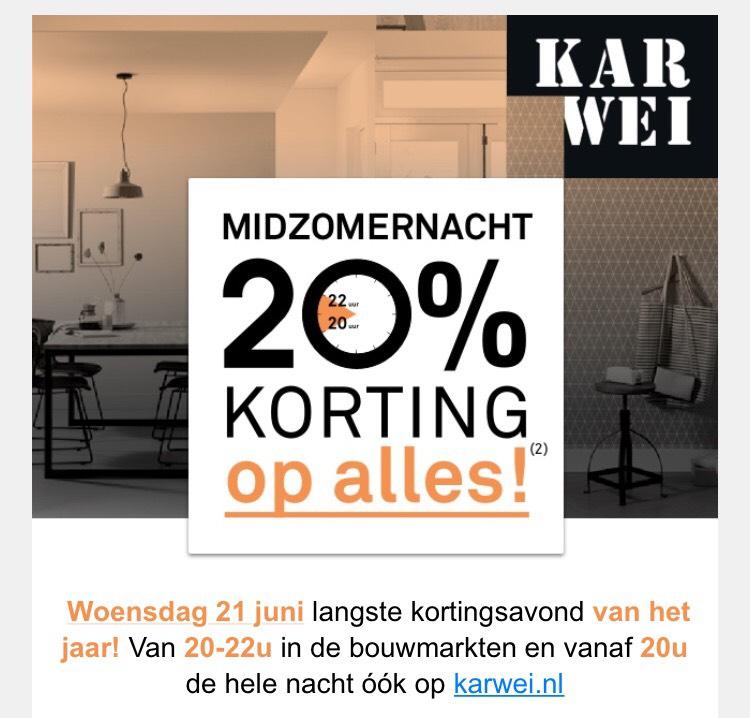 Alles -20% korting @ Karwei