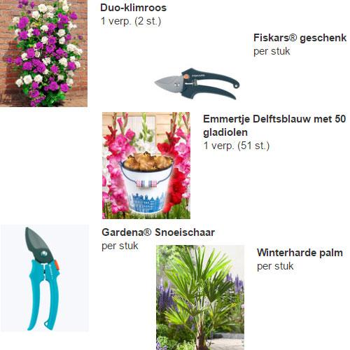Diverse gratis artikelen (t.w.v. max €16,99) bij bestelling @ Bakker.com