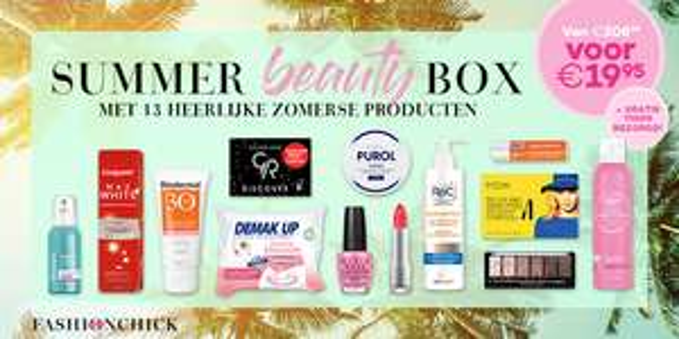 Summer Beauty Box t.w.v. €208 voor €19,95 - gratis verzending @ Fashionchick