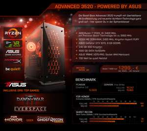 Basic 1420 - powered by ASUS PC (Ryzen 1600/ GTX 1060) voor €699 @ Boostboxx