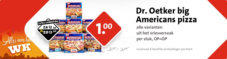 Dr. Oetker Big Americas pizza voor € 1 @ C1000