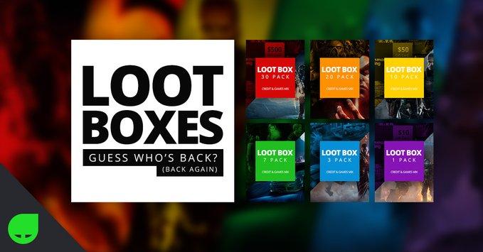 Loot Boxes vanaf  €1,29 @ Greenmangaming
