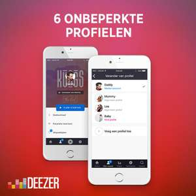 Deezer family (6 profielen) voor €3,60 per maand @ Deezer.com
