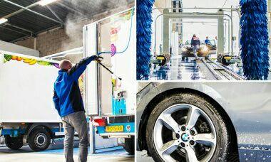 Voor €1 auto wassen in Rotterdam Blijdorp