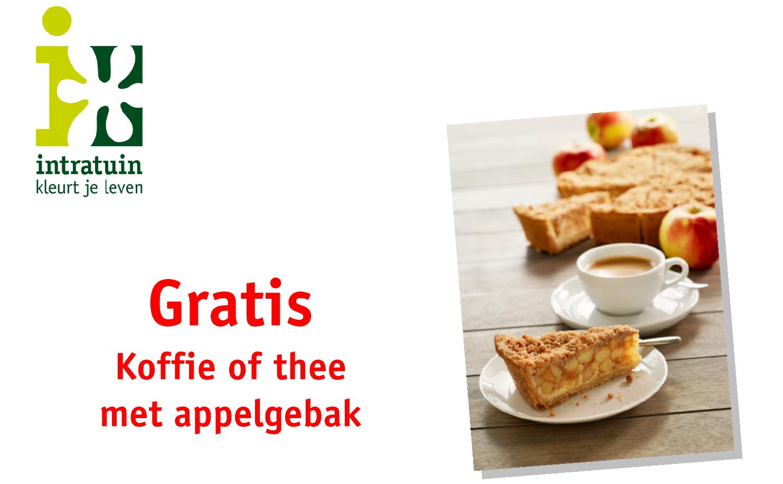 Gratis koffie of thee met appelgebak door waardebon @ Intratuin