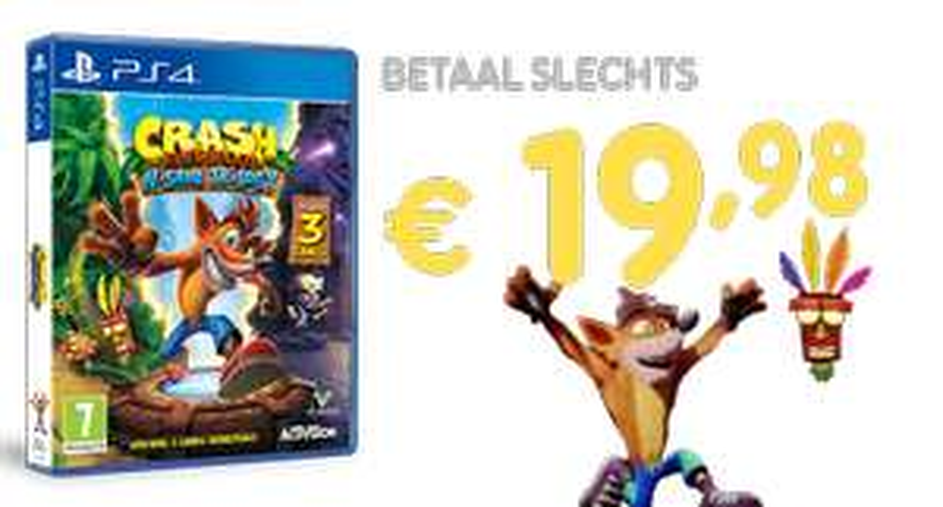 Crash Bandicoot N. Sane Trilogy PS4 voor €19,98 bij inlevering van 1 PS4  game naar keuze @ GM