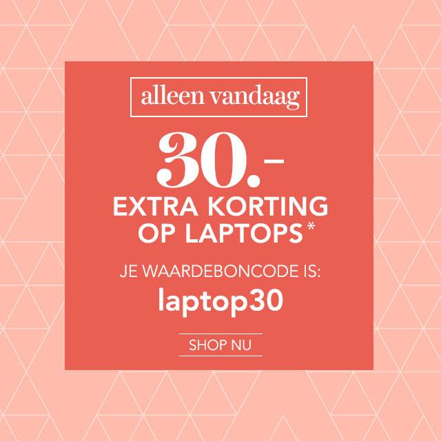 [Alleen vandaag] €30 extra korting op laptops @ Wehkamp.nl