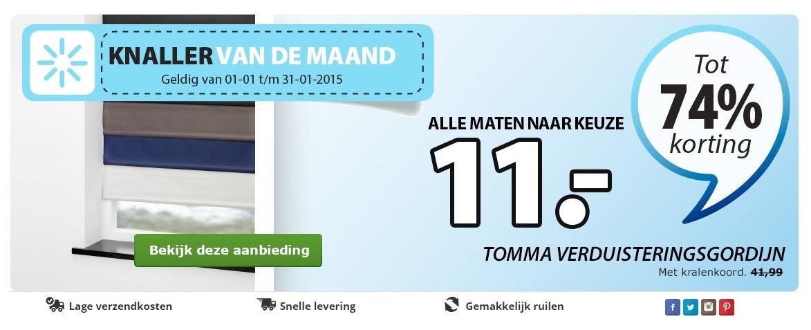 Verduisterende rolgordijnen bij Jysk type Tomma alle maten €11,-