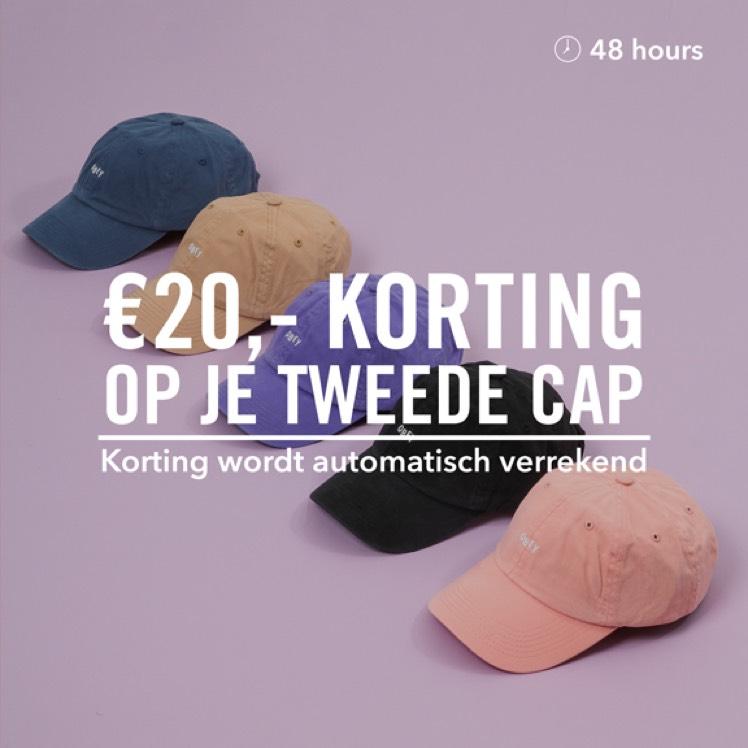 €20 korting op je tweede cap @ FreshCotton