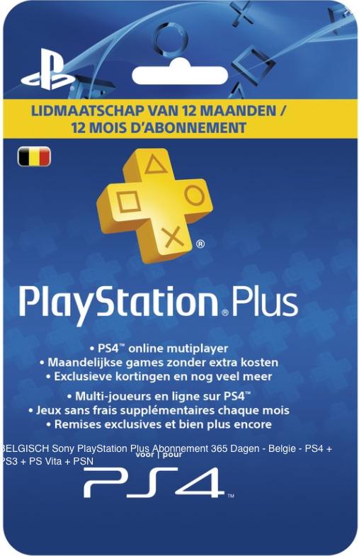 BELGISCH Playstation Plus Abonnement 365 dagen voor €29,74 @ DGMoutlet.nl