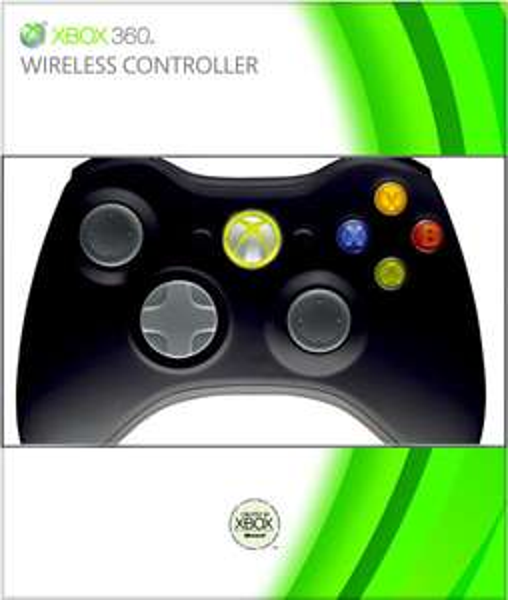 Xbox 360 Black Wireless Controller voor € 21,99 @ Zavvi