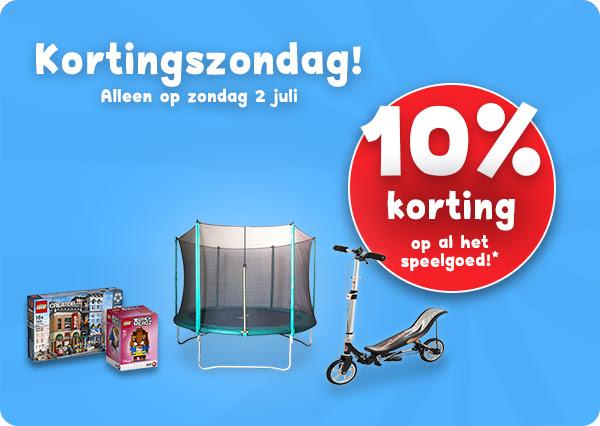 Kortingszondag 2 juli met 10% korting @ Bart Smit