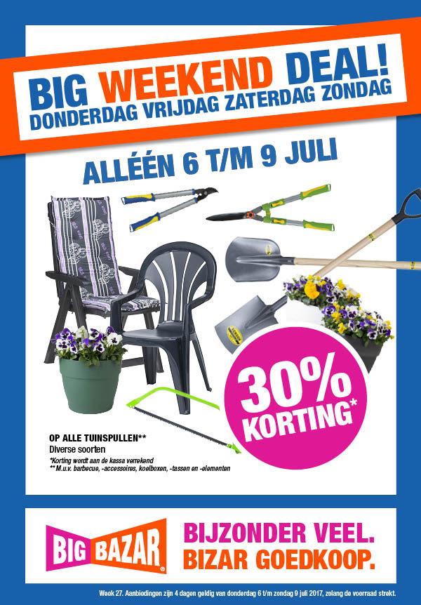 30% korting op alle tuinspullen @ Bigbazar