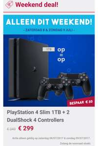 PS4 weekend-deal: Slim 1TB met twee controllers voor €299 @ Gamemania