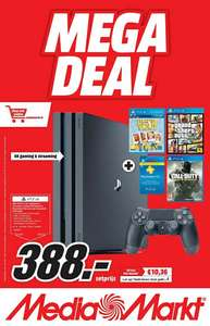 Playstation 4 Pro + GTA V + Call of Duty voor €388 @ Mediamarkt