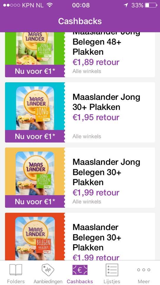 Maaslander kaas vanaf €0,74 @ reclamefolder