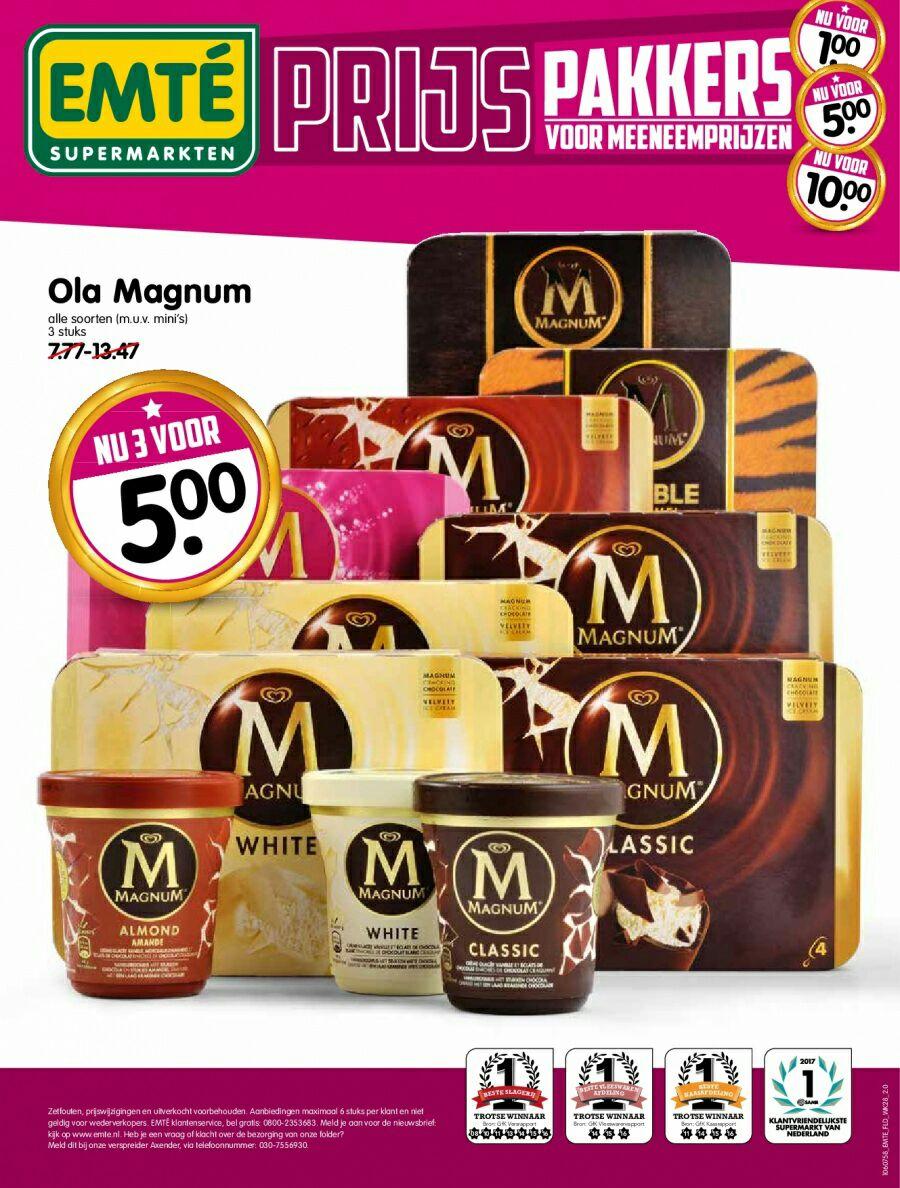 Ola Magnum 3 stuks 5 euro. (M.u.v mini's)@ emté