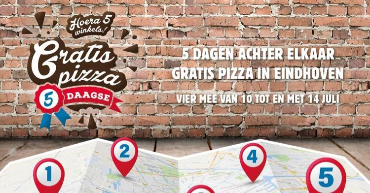 Gratis pizza bij Domino's, alleen in Eindhoven!