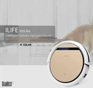 [Update] ILIFE V5S Pro Intelligent Robotic Vacuum Cleaner (EU Warehouse) voor €103,10 @ GearBest