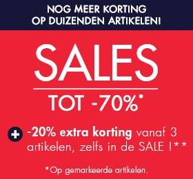 Tot 70% korting + 20% EXTRA (min 3 artikelen) @ Kiabi