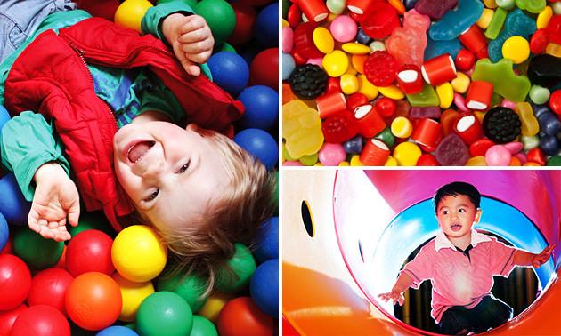 Monkeytown Apeldoorn: Entree kinderspeelparadijs + drinkbeker + snoepzak