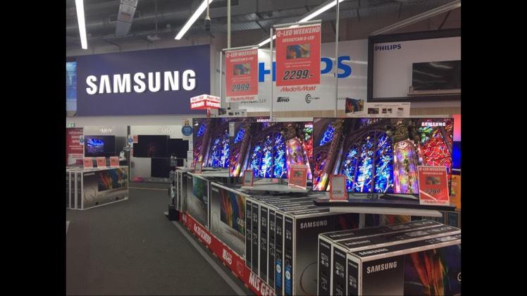 Samsung Qled scherp in prijs verlaagd!! @ mediamarkt bijlmer arena