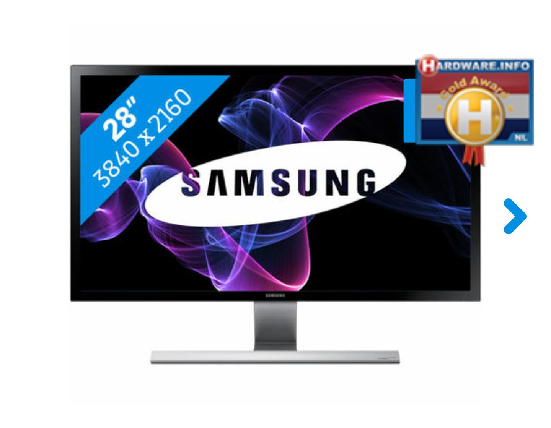 """Samsung U28D590D 28"""" 4K LED-monitor voor €365,03 @ Amazon.de"""