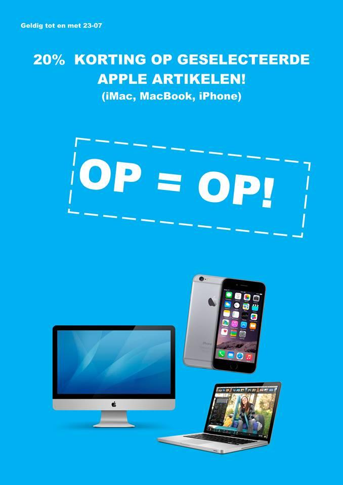 Apple uitverkoop (20%) @ Staples (Alleen in de winkels)