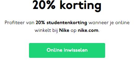20% korting bij Nike (ook op Sale) voor studenten @ My Unidays