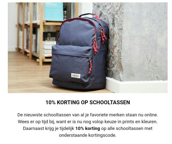 10% korting op schooltassen @ Travelbags