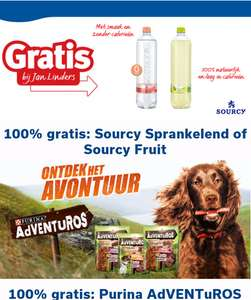 Gratis Sourcy sprankelend of Fruit en /of Purina AdVENTuROS @ Jan Linders