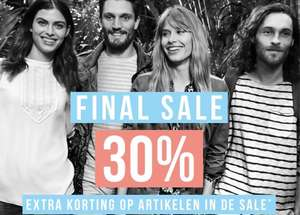 SALE tot -70% + 30% extra korting @ Tom Tailor