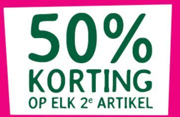 50% Korting op elk 2e artikel, ook op actieproducten @ Holland & Barrett