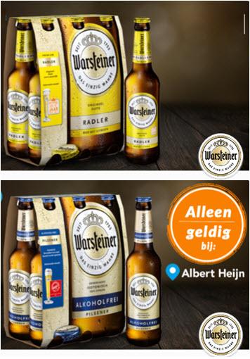 Warsteiner Radler 6 pack 50% cashback en/of Alcoholvrij 6-pack € 1,- @ Scoupy