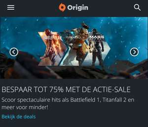 Tot 75% korting op diverse PC games (€4,99 - Mirror's Edge™ Catalyst) @ Origin