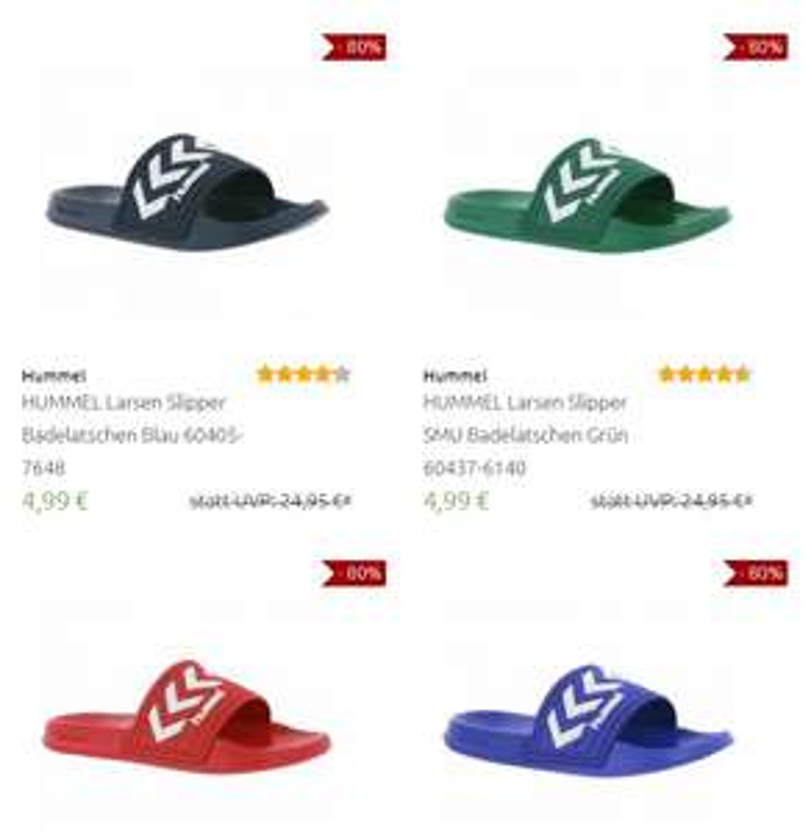 Hummel slippers 80% korting: €4,99 (ex verzending) @ Outlet46