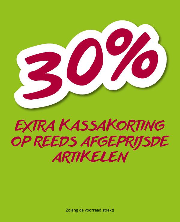 30% extra kassakorting op reeds afgeprijsde artikelen @ Takko