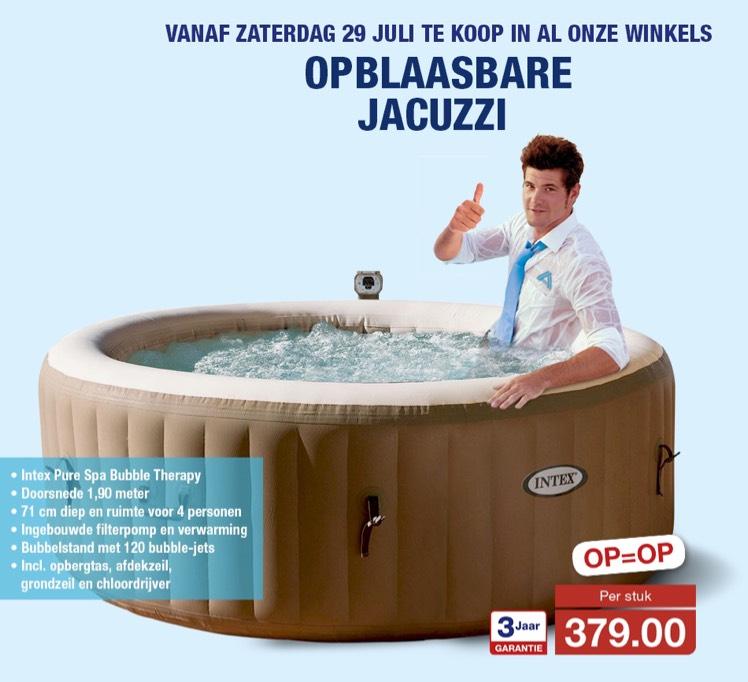 Opblaasbare jacuzzi voor €379,00 bij ALDI