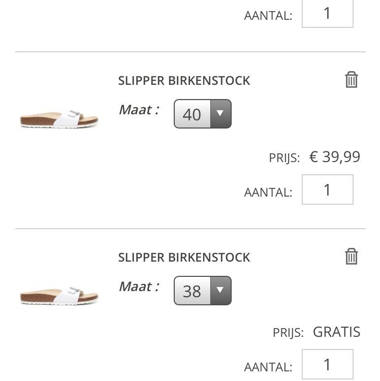 Birkenstock slippers 3 halen 2 betalen @ Bristol