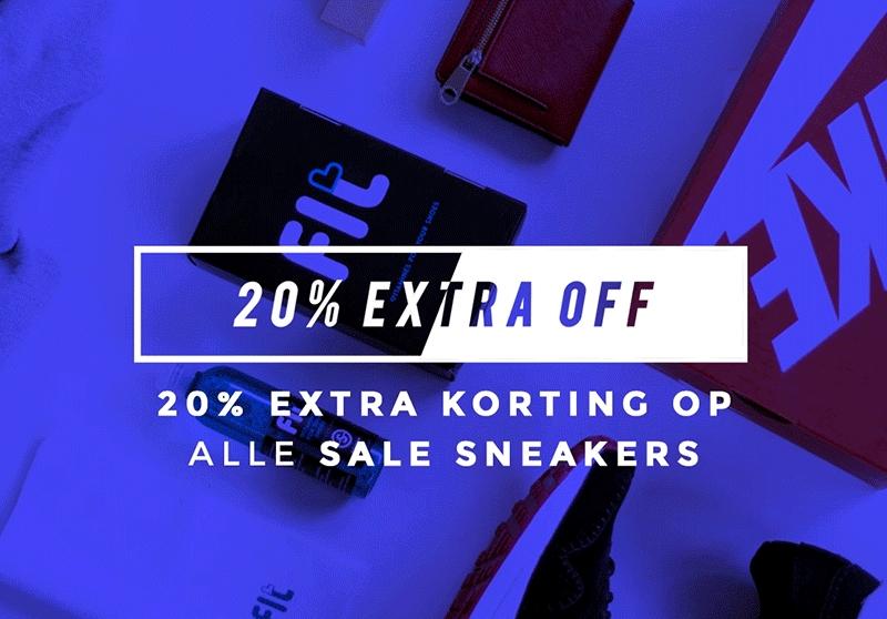 20% extra korting bovenop alle sale prijzen @ Sneakerbaas