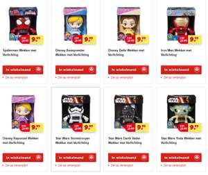 Bulb Botz wekkers (Disney / Star Wars / Spiderman etc) €9,99 @ Kruidvat