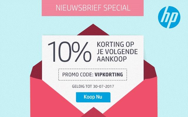 10% korting op bijna alles met actiecode VIPKORTING  @ HP Store