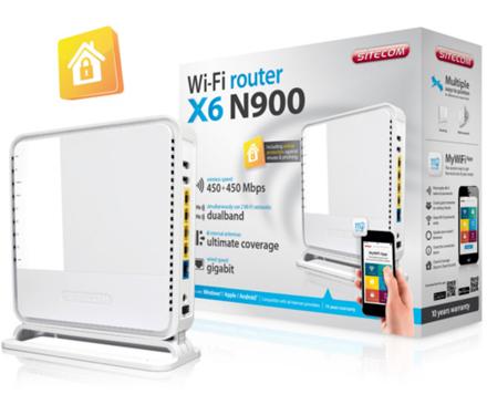 Sitecom X6 N900 Router voor €37,99 @ Mycom