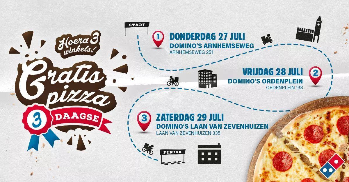 Gratis Pizza bij Domino's @ Apeldoorn