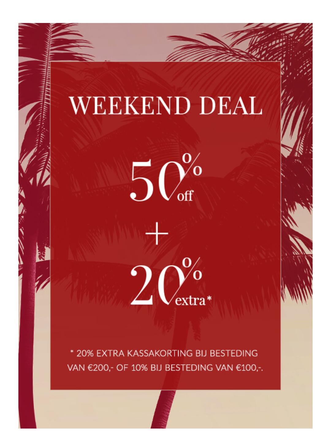 Weekend actie: extra 20% korting boven op de sale van 50% @ Mc Gregor