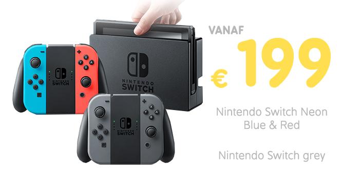Inruilactie: Nintendo Switch vanaf €199 bij inlevering Wii U 32GB, New 3DS XL of New 3DS @ Gamemania