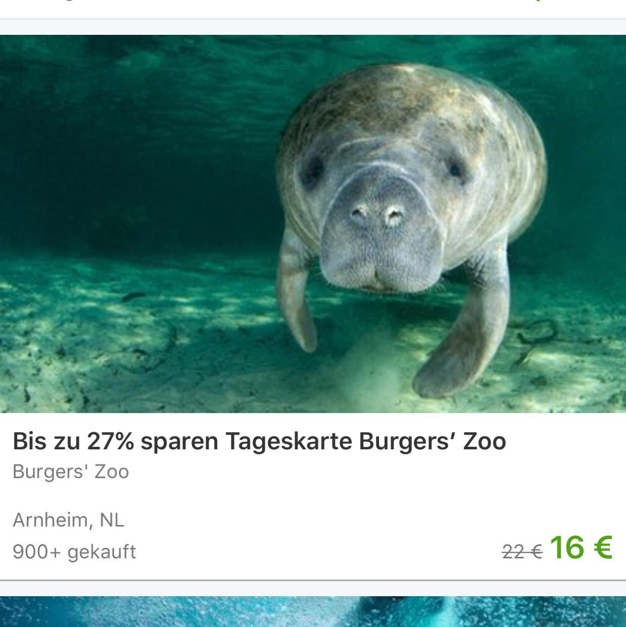 Burgers Zoo €13,60 ipv €22