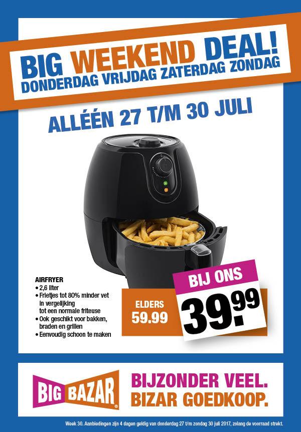 Airfryer voor €39,99 vanaf vandaag @ Big Bazar