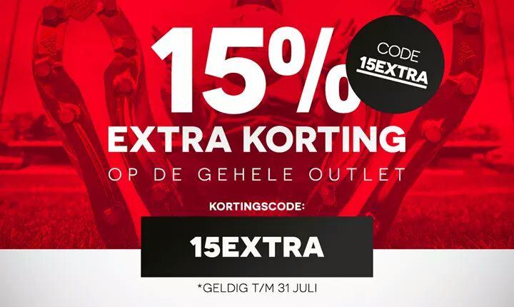 15% extra op de outlet van @voetbalshop.nl