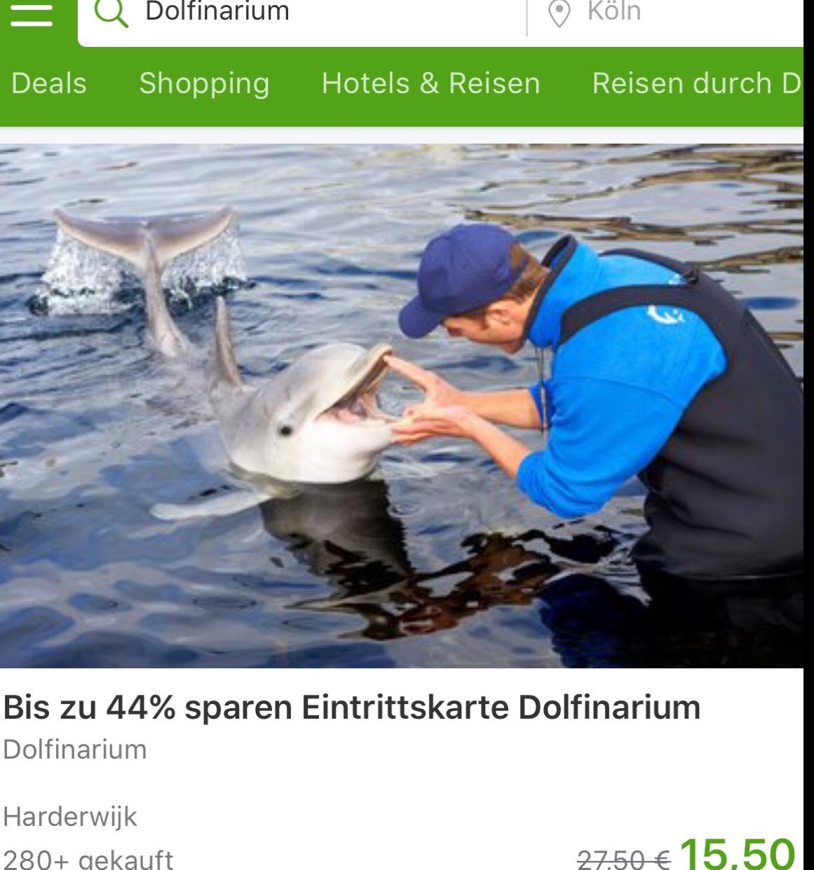 Dolfinarium €13,18 ipv €27,50 @Groupon